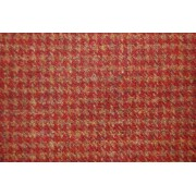 Houndstooth Check Burnt Umber Fabric