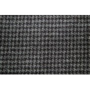 Houndstooth Check Slate Grey Fabric