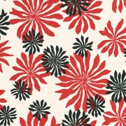 Fleur Soft-White/Red (MISP1013) Wallpaper