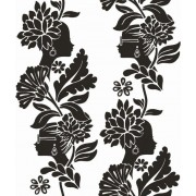 Damask Ladies Black & White (1091007) Wallpaper